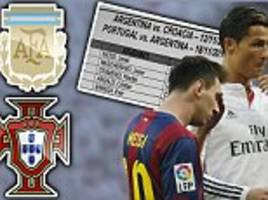 Lionel Messi and Ronaldo set to clash and Carlos Tevez could return to Upton Park for Argentina